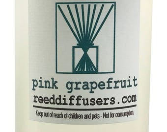 8 oz Pink Grapefruit Fragrance Reed Diffuser Oil Refill  - Made in the USA