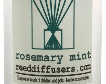 8 oz Rosemary Mint Fragrance Reed Diffuser Oil Refill with reeds- Made in the USA