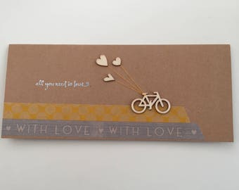 "Handmade ""All you need is love"" Card"