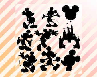 Disney Mickey Svg, Mickey mouse svg, Mickey dfx, svg, eps & png, Disney cutfiles, Mickey silhouette for cricut explore, silhouette cameo