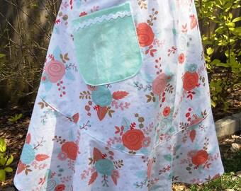 Half Apron - Floral Print