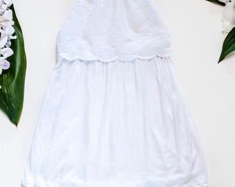 White Halter Dress - Toddler