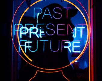 neon past present future | 8x10 color print