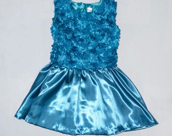 Girls' Dress sizes 2 years - 4 years, Children's 3D Roses Dress