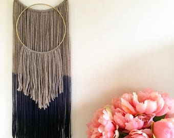 Dip Dyed Yarn Hanging