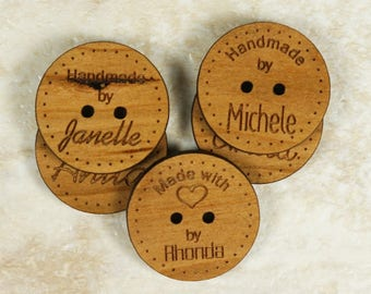 50 Personalized Knitting Labels, Personalized Product Labels, Personalized Wooden Knitting Labels, Custom Wood Product Labels,Product Labels