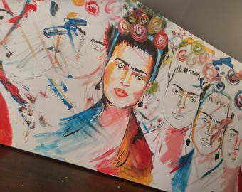 Frida Kahlo acrylic painting ORIGINAL