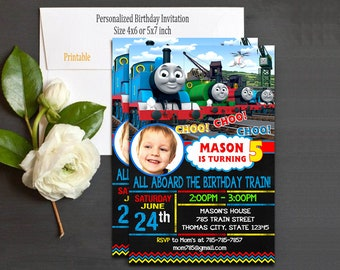 Thomas Train Invitation / Thomas Train Birthday / Thomas Train Party / Thomas Train Card / Thomas Train Printable / Thomas The Train