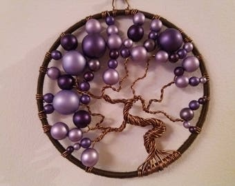 10 cm purple tree of life handmade