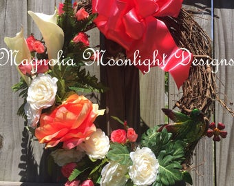 Calla Lilly grapevine wreath