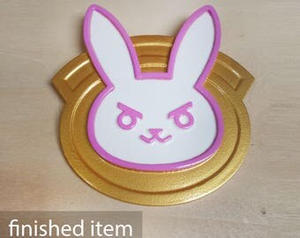 3D-Print Officer D.va Badge Overwatch Cosplay