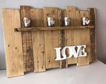 Handcrafted 'Love' Shelf