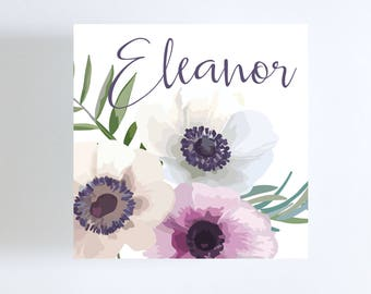 Flower Gift Tag // Poppies // Calling Card