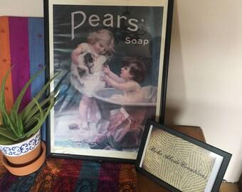 Pears Soap Bathroom Print