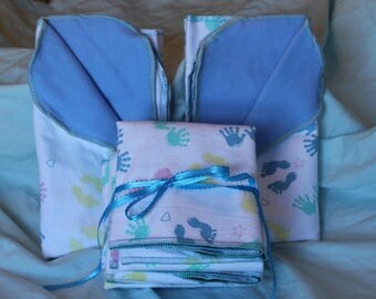 """PREEMIE RECIEVING BLANKET, Double Sided Flannel, 18"""" By 18"""""""