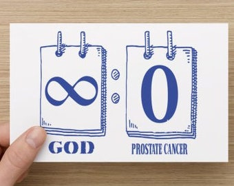 God vs Prostate Cancer Scoreboard Awareness Greeting Card