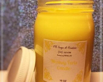 Monkey Farts 16 oz Candle