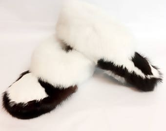 CALF FUR SLIPPERS for men and women