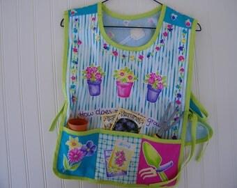 child's gardening vest, girls gardening apron