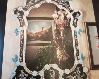 Murano Glass Wall Mirror- Venice 700 reproduction
