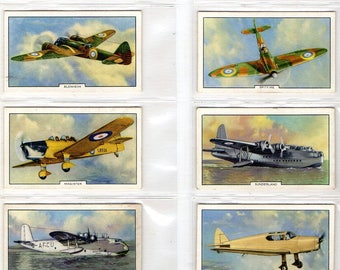 "Full set of 48 ""Aeroplanes"" Cigarette Cards from 1939"