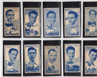 "Full set of 50 ""Famous Footballers"" Cigarette Cards from 1951"