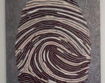 Concrete Art Sculpture Fingerprint Lightweight Industrial Unique Original