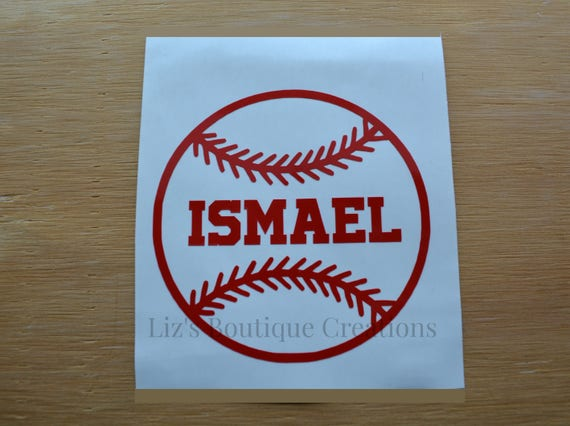 Baseball Decal Name Decal Vinyl Sticker Yeti Baseball - Custom vinyl baseball decals