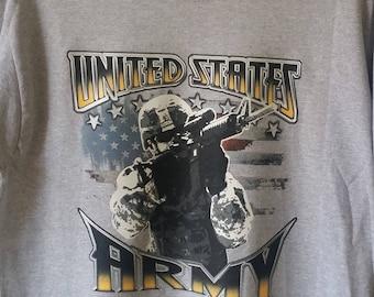 United States Army-Full Battle Rattle-Graphic T-shirt-Heat Transfer Vinyl