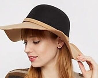 Trendy Felt Floppy Hat!
