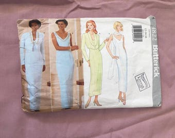 Vintage sewing Paper Pattern Butterick evening dress size 12