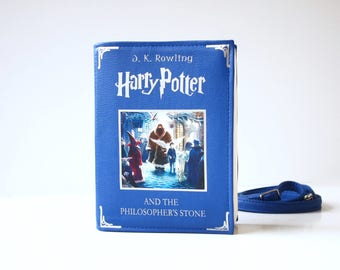 Harry Potter Faux Leather Book Bag The Philospher's Stone Book Purse