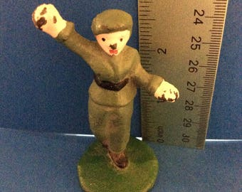 Vintage Female Iron Casted Soldier