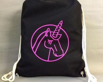 Unicornected - gym bags, Unicorn, pink, bag, pressure, children, bag, illustration,