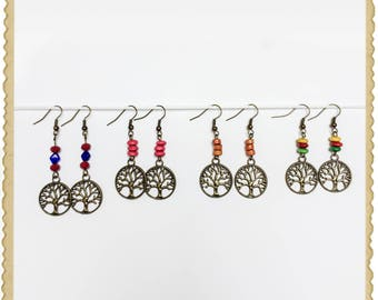 handmade earrings of tree of life