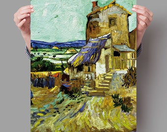 Poster 70x50 cm The Old Mill - Vincent van Gogh Digital