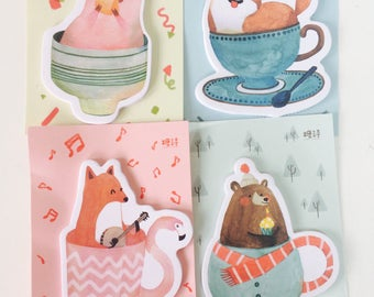 Fun Animals Memo Pad - Sticky Notes - 4 Designs - Note Pad