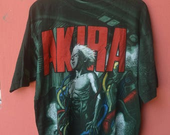 Vintage Super Rare AKIRA ANIME FULLPRINT Shirt Japanese Anime Ghost In The Shell