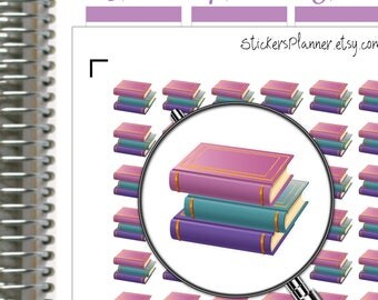 Prees Book Stickers Planner Stickers Reading Stickers Book Planner for Erin Condren Planner Happy Planner Reading Planner ( i31 )