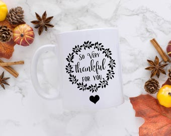 SVG, PNG, PDF, Cut Files, Digital, diy, template, vector, transfer, silhouette, cameo, cricut, thanksgiving, very thankful for you, stencil