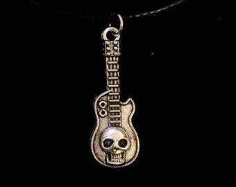 Skull Guitar Necklace