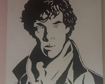 Sherlock on a canvas