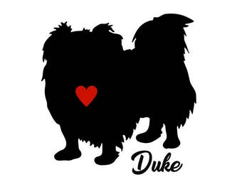 Pekingese Decal, Personalize With Your Dog's Name, Pekingese Sticker, Pekingese Dog Decal, Pekingese Dog, Pekingese Dog Stickers, Pekingese