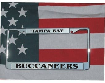 TAMPA BAY BUCCANEERS Football Chrome Laser Engraved License Plate Frame Free Shipping