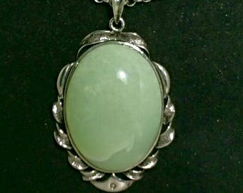 Variscite Pendant with Chalcedony Neckace and Beads