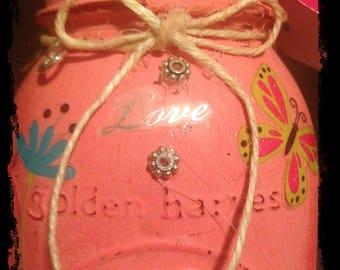 Hippie Love Style Mother's Day Jar