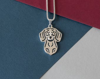 Shorthaired Dachshund Necklace - Silver Plated