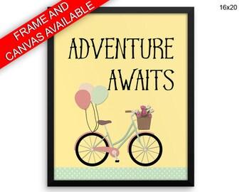 Adventure Canvas Art Adventure Printed Adventure Kids Art Adventure Kids Print Adventure Framed Art Adventure bike