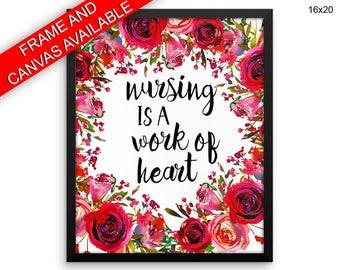 Nursing Prints  Nursing Canvas Wall Art Nursing Framed Print Nursing Wall Art Canvas Nursing Nursery Art Nursing Nursery Print Nursing