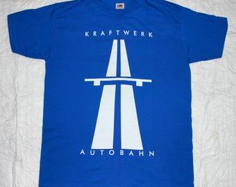 kraftwerk autobahn'74 krautrock electronic synthrock new royal blue t-shirt